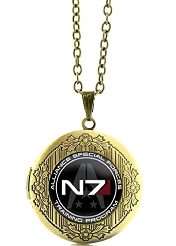 Paragon Mens Watch - Mass Effect N7 Logo Glass Domed Pendant Locket Necklace