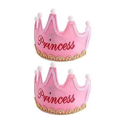 eDealMax La Fiesta de cumpleaños Eventos Forma de Corona Princesa Carta de Bolas casquillo de la