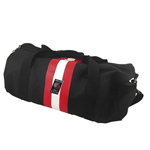 NBA Portland Trailblazers Black Rugby Duffel Bag by Pangea Brands