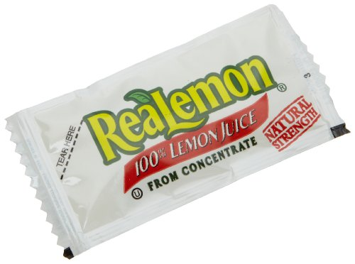 ReaLemon 100% Lemon Juice from Concentrate, 0.14-Ounce Single Serve Packages (Pack of 200) by Real