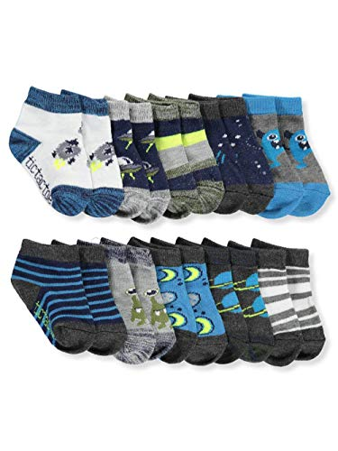 Tic Tac Toe Baby Boys' 10-Pack Ankle Socks - blue, 0-12 months (Boys Tic Socks Tac Toe)