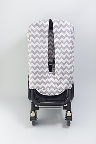 Bambella Designs Stroller Privacy Curtain - Chevron Grey by BayB Brand