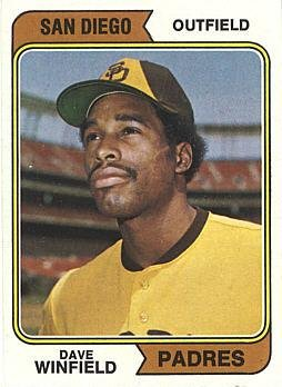 1974 Topps Baseball #456 Dave Winfield Rookie - Memorabilia Winfield Dave