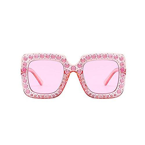 Lady Parasols Carré GAOJUAN Mode Lunettes Diamant UV400 Surdimensionné 67Mm Femmes Sunglasses À Pink Main Cadre La Lunettes d8q8Orf