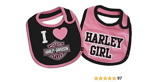 Harley-Davidson Girls Pink /& Black Harley Princess 2-Piece Creeper Set 3000557