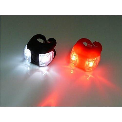 Nalmatoionme 2pcs LED Lumineux Feux de vélo avant arrière sport extérieur