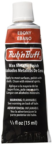 AMACO Rub 'n Buff Wax Metallic Finish, Ebony, 0.5-Fluid Ounce - Ebony Finish