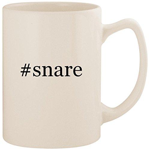 (#snare - White Hashtag 14oz Ceramic Statesman Coffee Mug Cup)