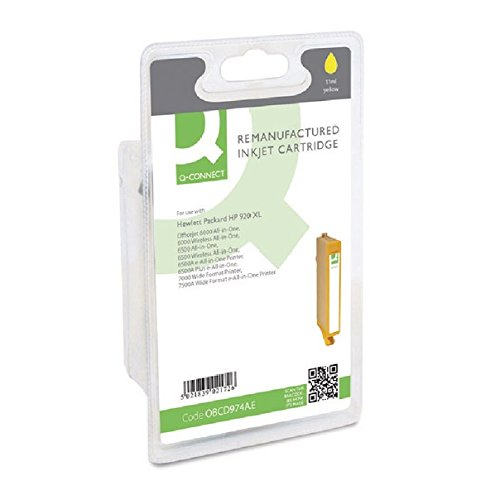 Q-Connect HP 920XL Remanufactured Inkjet Cartridge High Yield CD974AEBGX - Yellow by OFFBASIC