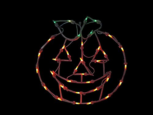 Halloween Lantern (NORTHLIGHT Lighted Jack-O-Lantern Halloween Pumpkin Window Silhouette Decoration, 18