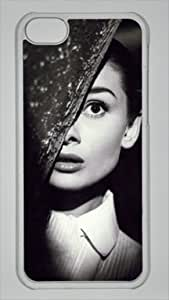 Audrey Hepburn Custom PC Transparent Case for iPhone 5C by icasepersonalized