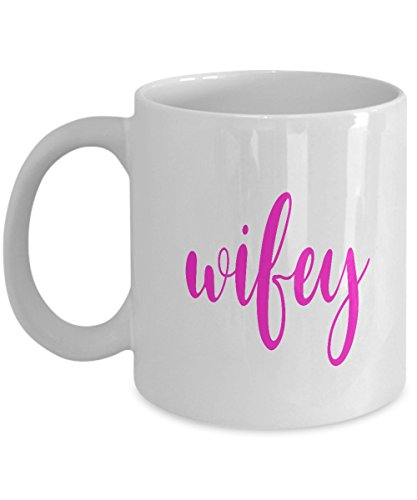 Wifey Coffee Mug - Wife Bride Gift for Honeymoon, Anniversary, Wedding, Newlywed