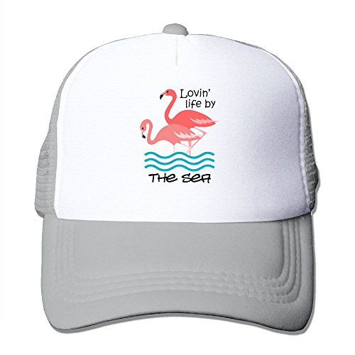 MOMAMU Lovin' Life By The Sea Unisex Caps One Size Fit All Ash (Invitation Christmas Office Breakfast)