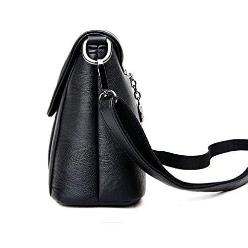 Moda Mujer Bolsa De Cuero Suave Bolsos De Hombro Bolsa De Cinturón Cruz Multicolor Grey