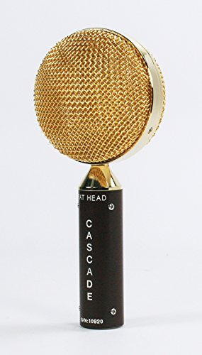 Cascade Microphones 98-G-A FAT HEAD Ribbon Microphone, Brown Body/Gold Grill - Image 1