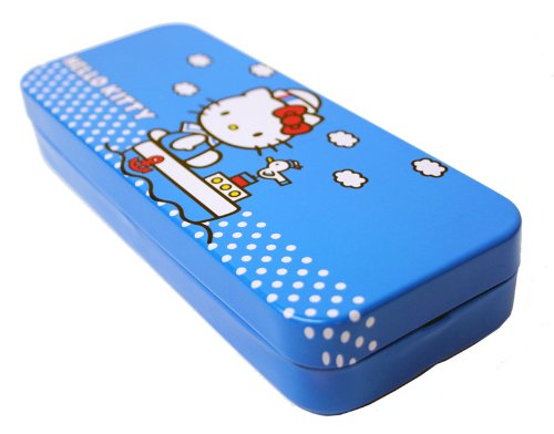 Sanrio Hello Kitty Tin Pencil Case (Blue)
