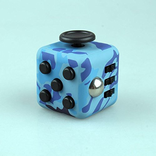 Price comparison product image Fidget Cube Relieves Stress And Anxiety for Children and Adult(CAMO Blue)