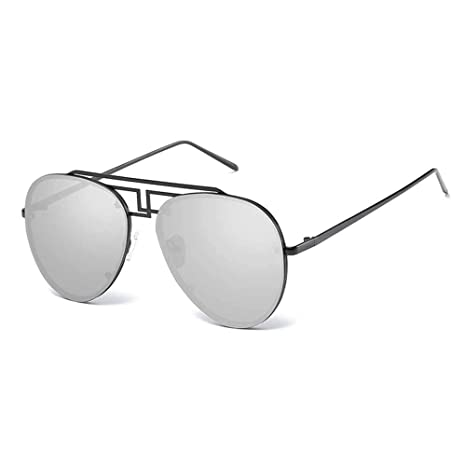 Huichao Gafas de Sol de Montura Grande de Metal, Modelos ...
