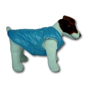 Forro polar con forro acolchado abrigo para perro, disponible en azul, marrón y naranja: Amazon.es: Productos para mascotas