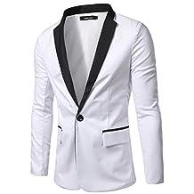 Retrograder Mens Casual Black-White Slim Fit Blazers Jackets Coats B018