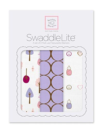 SwaddleDesigns SwaddleLite Marquisette Blankets Lavender