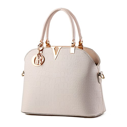 leather crocodile handbags Women Shoulder White bag handbags Pahajim Luxury pattern 1XqtwpXPx