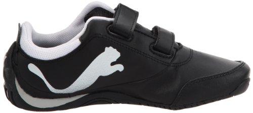 Puma, Drift Cat 4 L V Kids, Scarpe sportive, Unisex - bambino Nero - Bianco - Nero