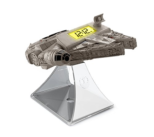 092298924809 - Star Wars-The Force Awakens Millennium Falcon Night Glow Alarm Clock carousel main 0