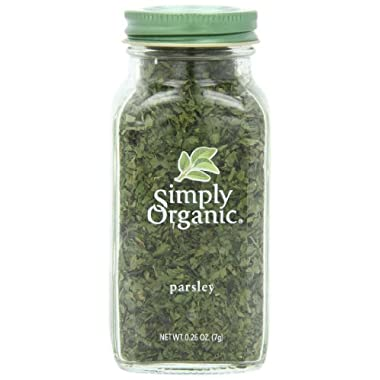 Simply Organic Parsley Flakes Cut & Sifted Certified Organic, 0.26 Ounce Container