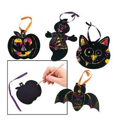 Magic Color Scratch Halloween Shapes - 24 pieces ()