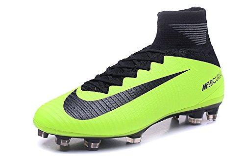 yurmery Zapatos para hombre Mercurial Superfly V FG–Botas de fútbol, hombre, amarillo, 41