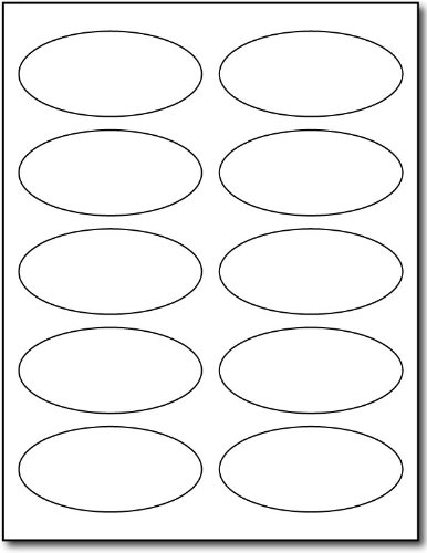 - White Oval Labels - 1 3/4