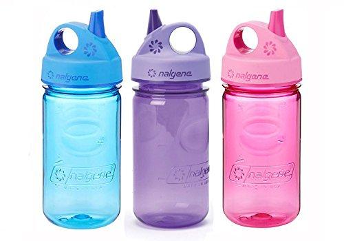 Nalgene Kids / Children's Grip-n-Gulp 12oz. Water Bottles, 3 Bottle Bundle Pack