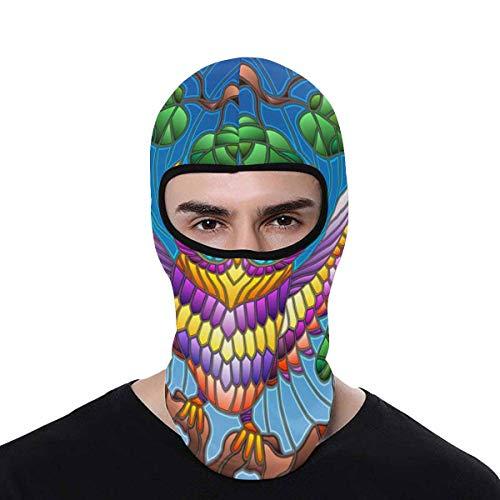 - INTERESTPRINT Colourful Owl Balaclava Full Face Mask Motorcycle Helmet Liner Breathable Multipurpose Outdoor Sports Head Hood