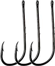 Fishing Baitholder Hook with 2 Barbs,50pcs/100pcs Octopus Hooks Long Shank Barbed Fishing Jig Hook High Carbon