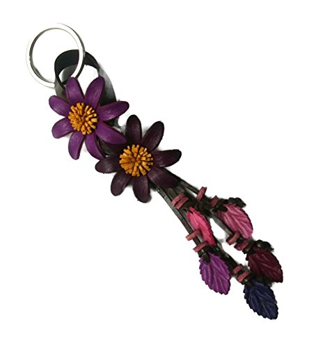 [해외]벨라 Pazzo 수공 SunFlowers 가죽 열쇠 고리 열쇠 고리 걸쇠 가방 참 핸드백 지갑 매력 자동차 열쇠 펜던트/Bella Pazzo Handmade SunFlowers Leather Keychain Key R