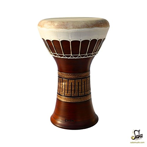 Professional Clay Ceramic Solo Darbuka Drum By Emin Percussion Doumbek EP-004-2A by Sala Muzik