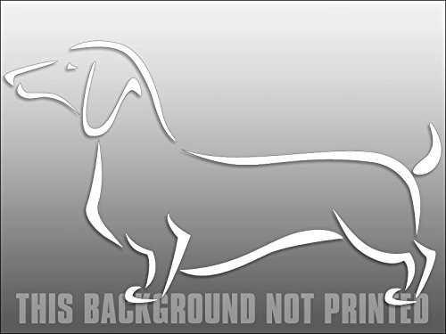 dach Dog Window Decal American Vinyl White Vinyl Fancy Abstract Dachshund Sticker