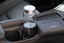 Kablo Glass Water Bottle 32 oz, 100% Borosilicate Glass