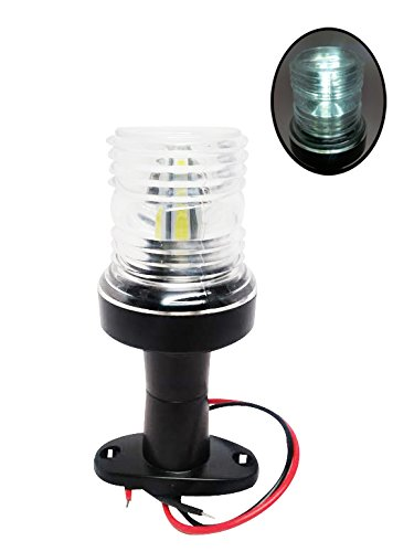 Pactrade Marine Boat All Around LED Fixed Mount Navigation Light, 12 - Light Anchor Led