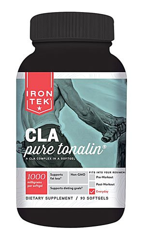 Iron-Tek Essential CLA Pure Tonalin -- 1000 mg - 90 Softgels - 2pc