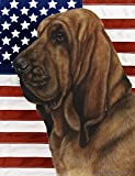 "Bloodhound by Tamara Burnett Patriotic II Garden Dog Breed Flag 12"" x 17"" For Sale"