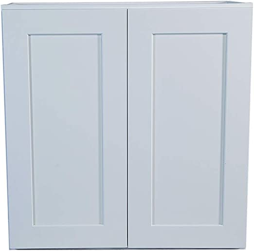 Amazon Com White Shaker Wall Cabinet With Self Soft Close Hinges All Solid Wood Rta Painted 24x42 Kitchen Dining