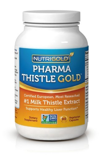 European Milk Thistle Extract - Pharma Thistle GOLD, 30 to 70:1 Extract with 80% Silymarin (#1 Liver Support Supplement for Liver Detox and Cleanse) 180 Vegetarian Capsules