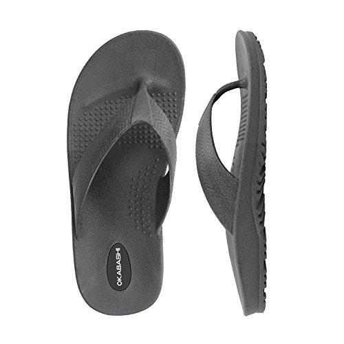 Okabashi Heren Surf Slippers - Sandalen Leisteen