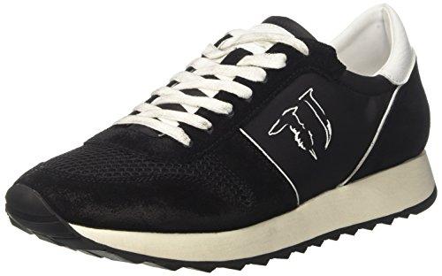 Trussardi Jeans 77s064xx53, Sneaker a Collo Basso Uomo nero