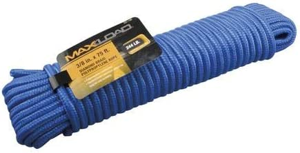 Blue Max Load 3//8 x 75 Diamond Braid Polypropylene Rope