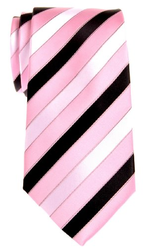 Retreez Three Colour Stripe Microfiber Necktie product image
