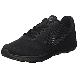 NIKE Men's Revolution 3 Running Shoe, Black/Metallic Dark Grey/Anthracite, 9.5 D(M) US