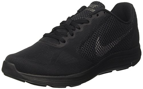 Nike Mens Revolution 3 Running Shoes Black Dark Grey Anthracite 9 D(M) US